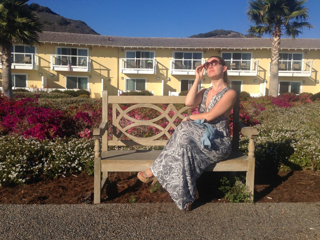 Visiting Pismo Beach in Maxi dress